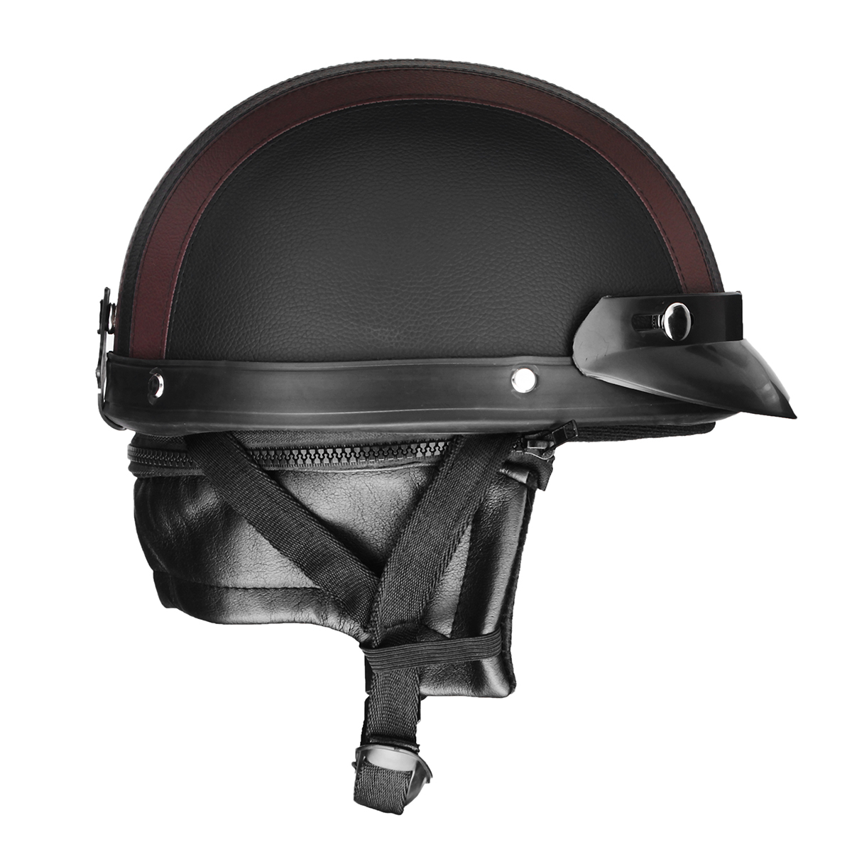 Retro Motorcycle Motor Bike Scooter Half Open Face Helmet Head Protection