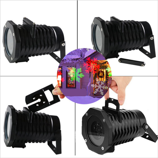 10 Patterns 6W LED Garden Snowflak Lawn Projection Lamp Outdoor Lamp for Christmas