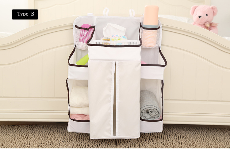 Waterproof Diapers Big Spece Organizer Baby Bed Hanging Bag Portable Storage Bags