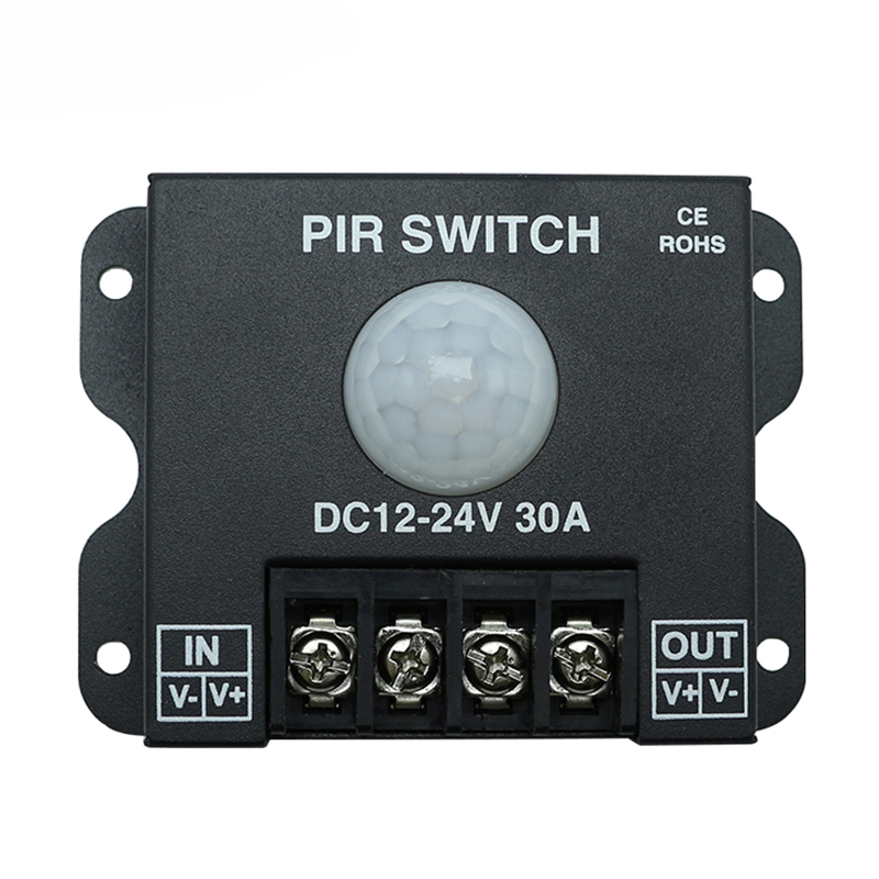 DC12-24V 30A Human Body Delay Time Infrared PIR Motion Sensor Switch for LED Strip Light