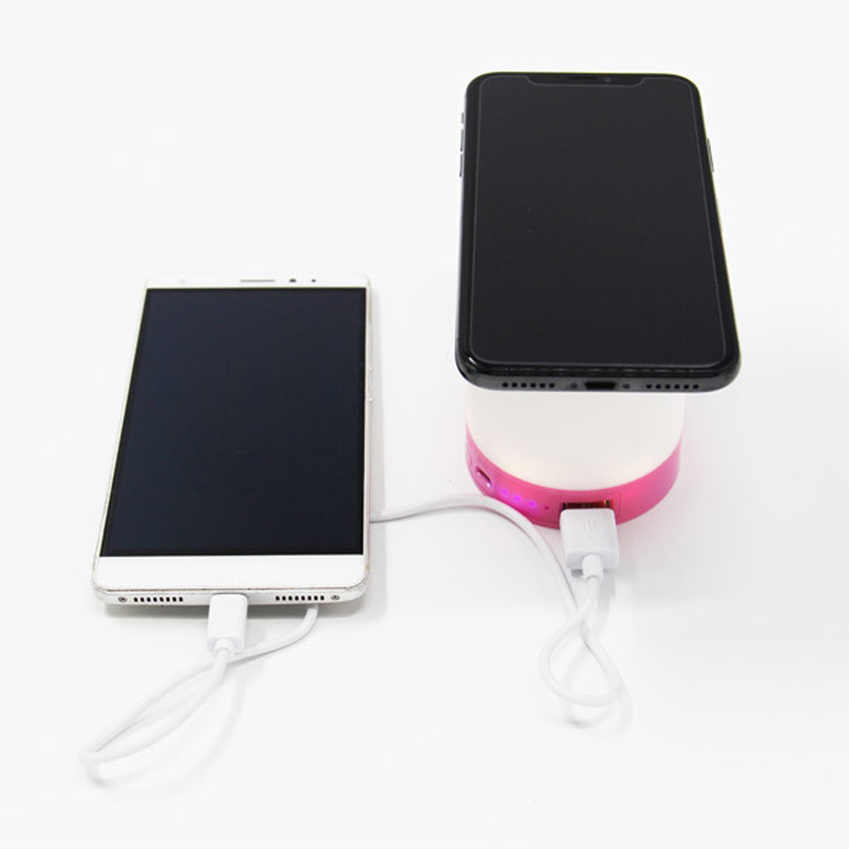 Wireless Phone Charger 10000mAh Power Bank LED Light Lamp for iPhone X for Samsung