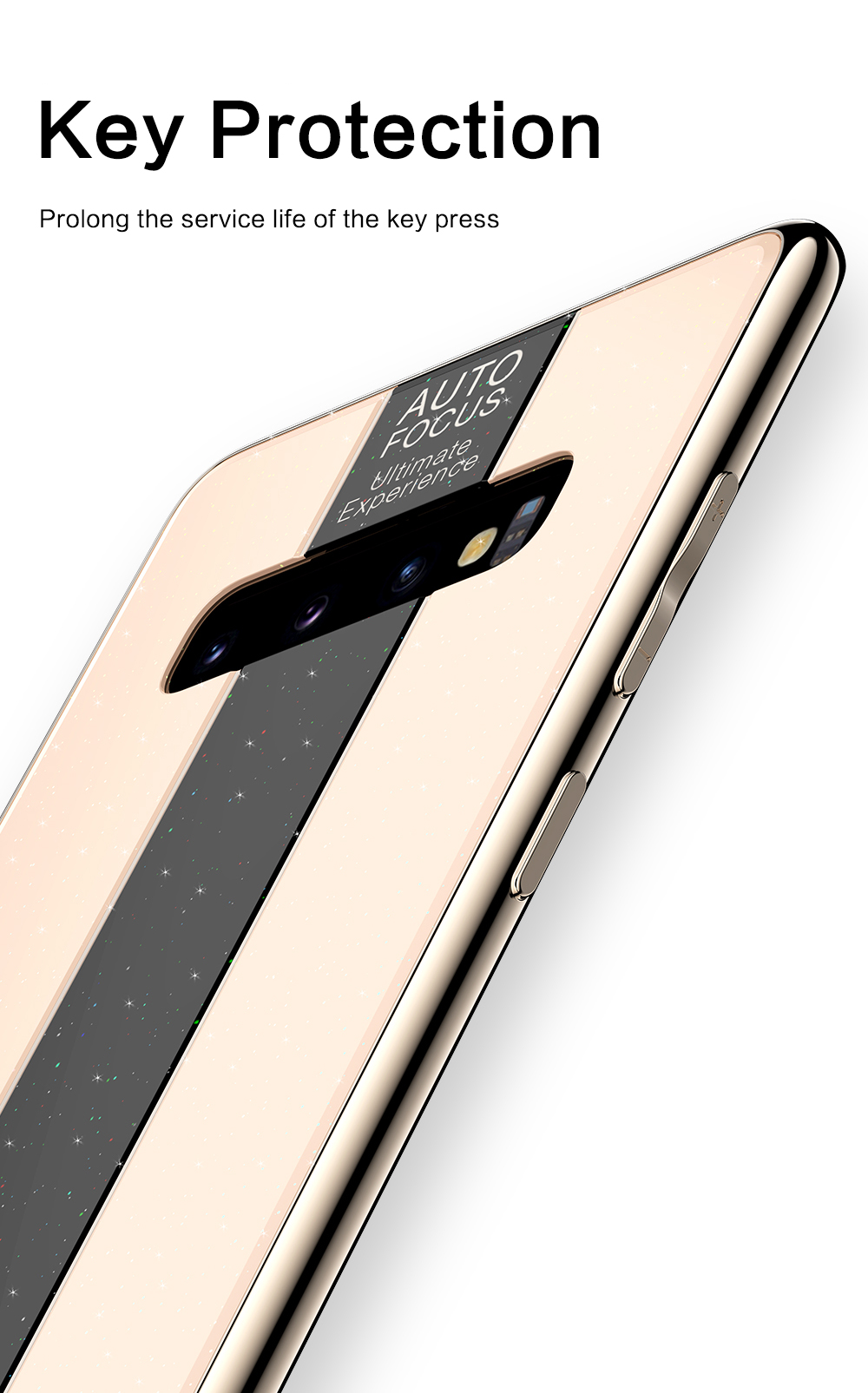 Bakeey Scratch Resistant Glass Protective Case For Samsung Galaxy S10 Plus