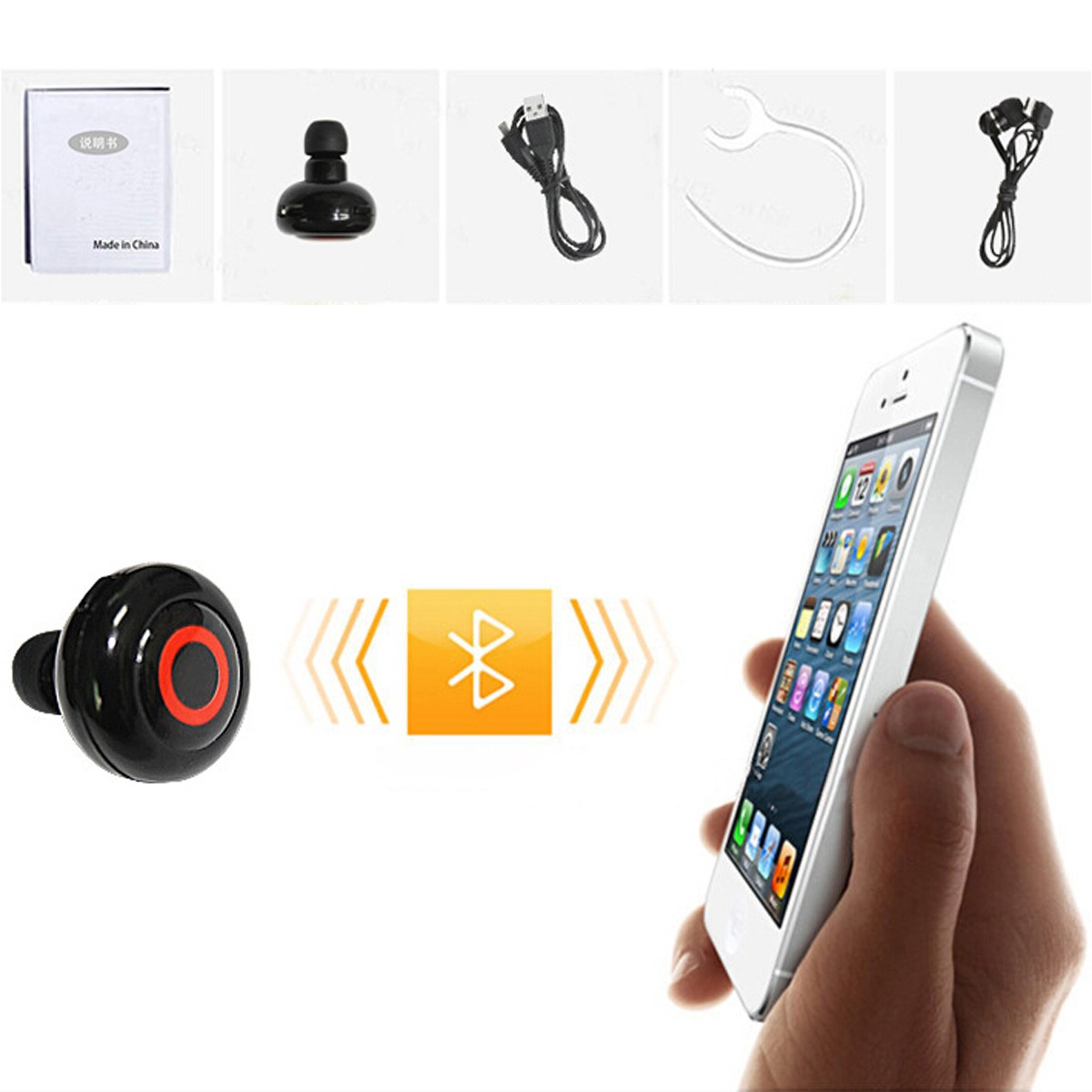 Universal Mini In-ear Hands Free Multi-devices Connection Wireless bluetooth Earphone