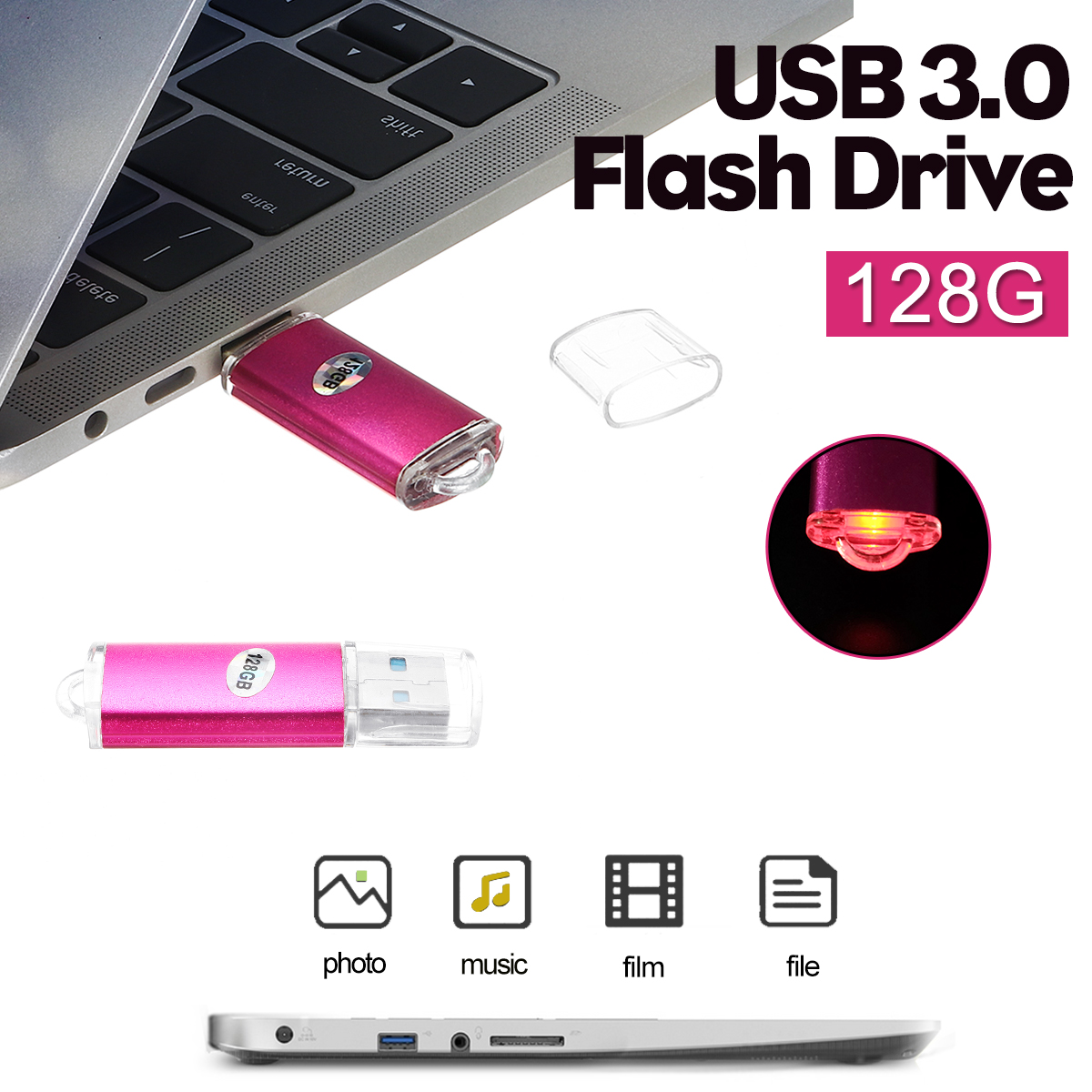 128GB USB 3.0 Flash Drive U Disk For Laptop Notebook Desktop PC TV