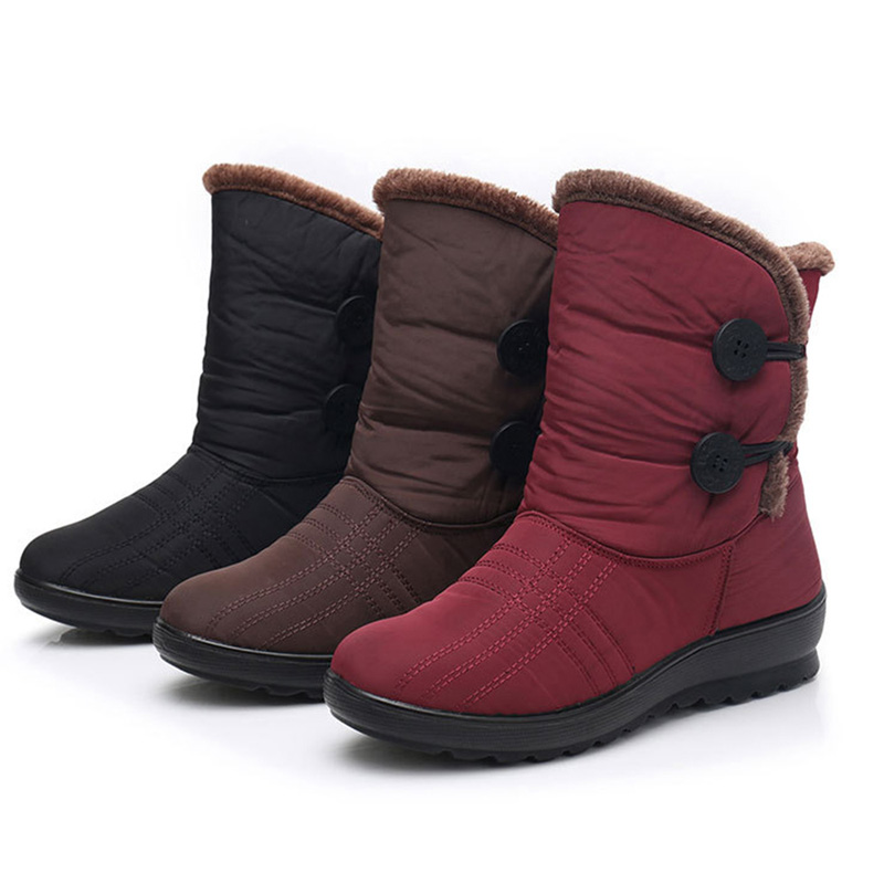 Casual Keep Warm Buckle Mid-calf Boots