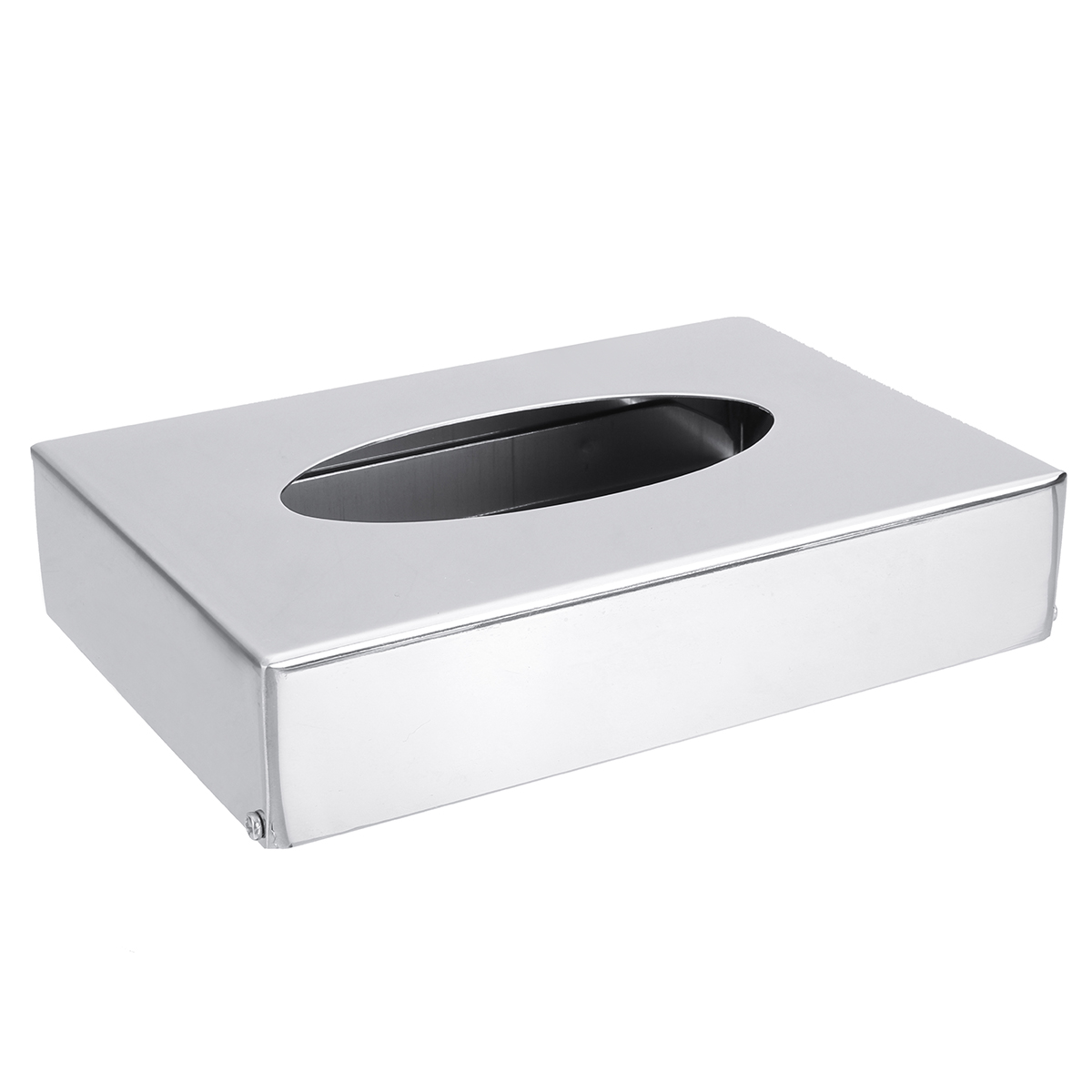 Tissue Container Box Chrome Colour Cover Hotel Bedroom Office Napkin Paper Holder