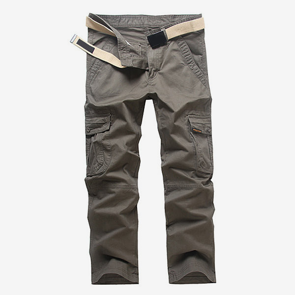 Mens Casual Multi Pocket Outdooors Cargo Pants