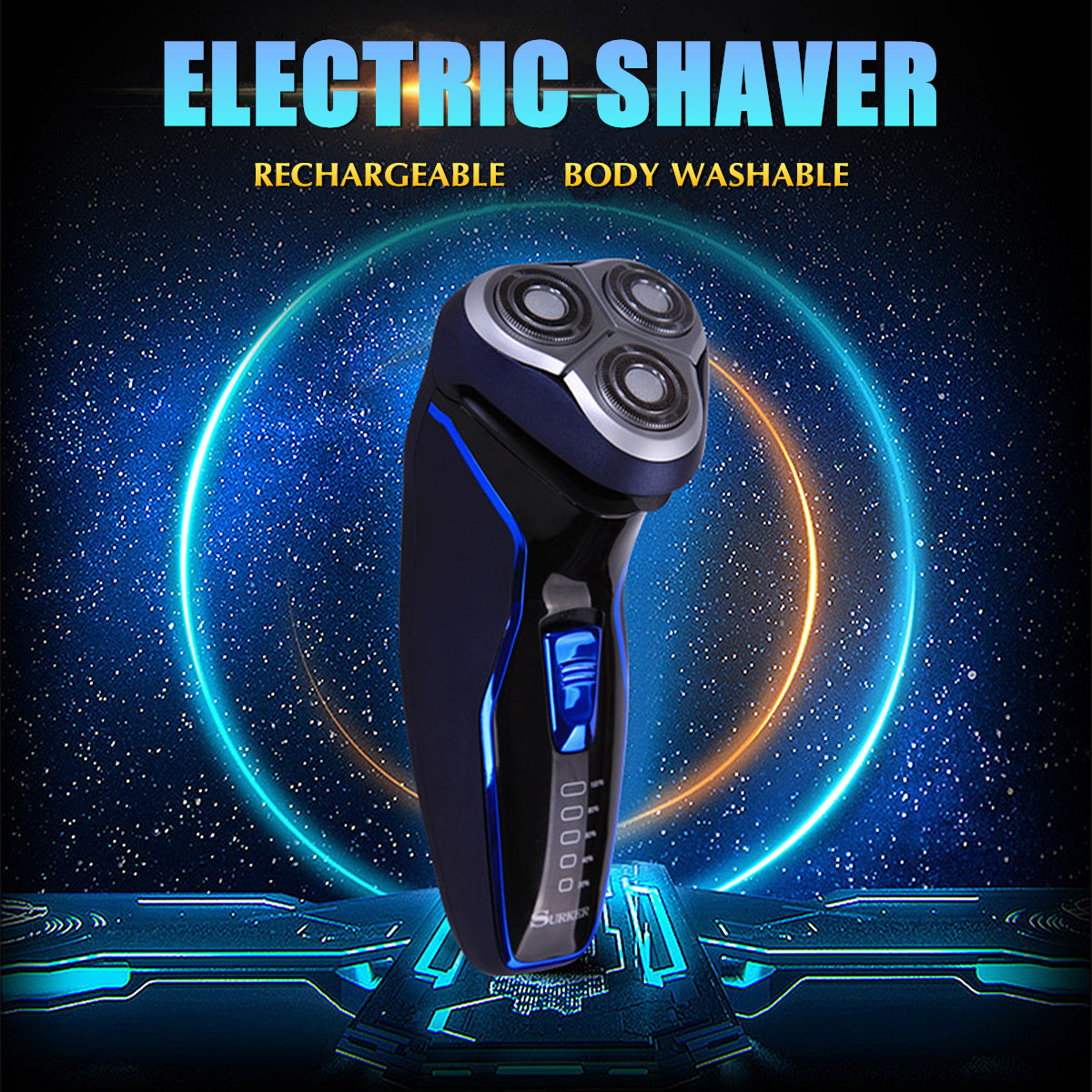 Surker Men Electric 3D Cordless Shaver