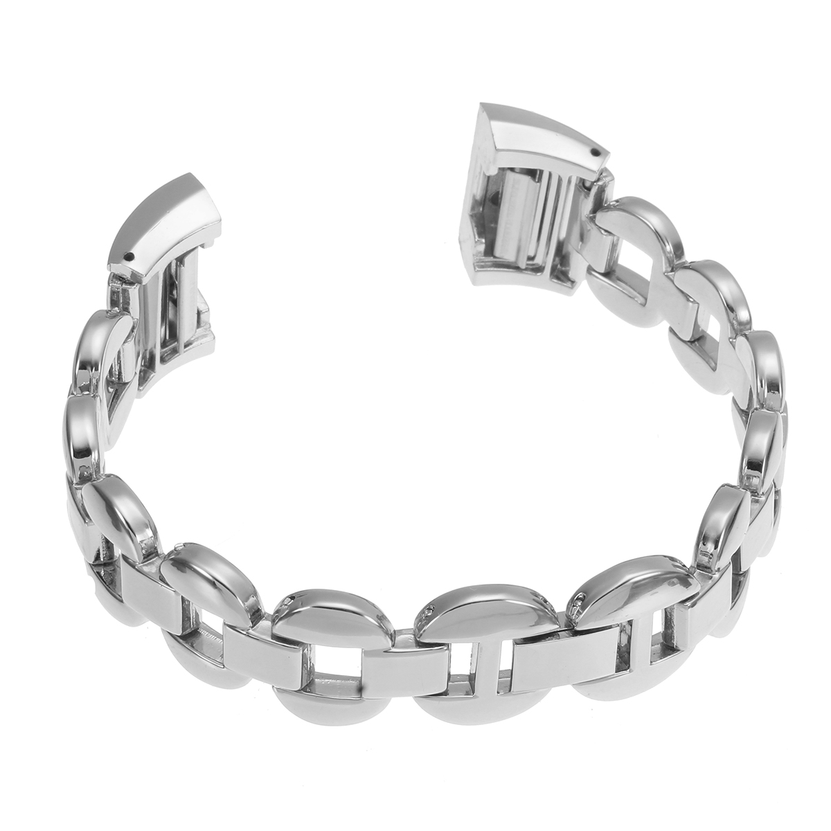 180mm Womens Stainless Steel Crystal Bracelet Band Loop Strap For Fitbit Charge 2 Watch