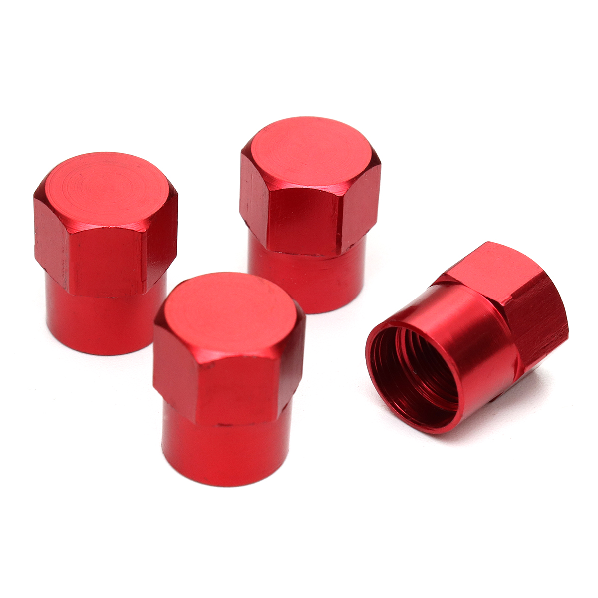 4Pcs TR413 Aluminium Alloy Car Tire Wheel Tyre Valve Stem Hex Caps And Sleeve Cover