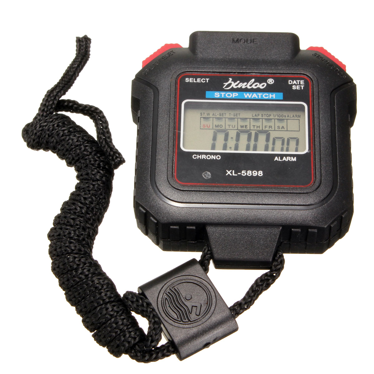 Digital Handheld Sports Stopwatch Stop Watch Clock Alarm Counter Running Timer
