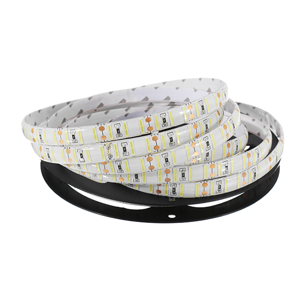 DC12V 5M SMD8520 Pure White Waterproof LED Flexible Strip Light for Garden Outdoor Decoration