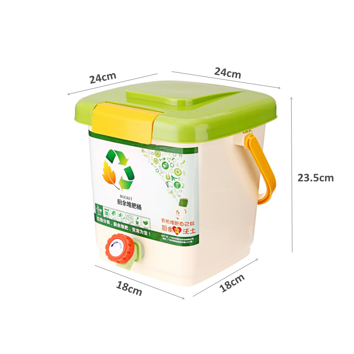 10L Recycle Composter Aerated Compost Bin Bokashi Bucket Kitchen Food Waste Bins