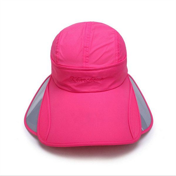 Women Ladies Summer Quick Dry Beach Sunscreen Sun Hat Outdoor Wide Large Brim Anti-UV Visor Cap