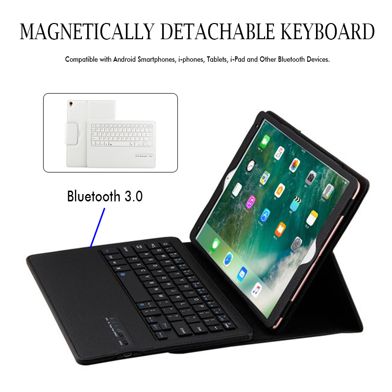 Detachable bluetooth Keyboard Kickstand Tablet Case For iPad Pro 10.5 Inch 2017/iPad Air 10.5 2019
