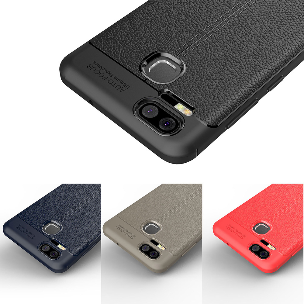 Bakeey™ Litchi Pattern Shockproof Soft TPU Cover Protective Case for ASUS ZenFone 3 Zoom ZE553KL