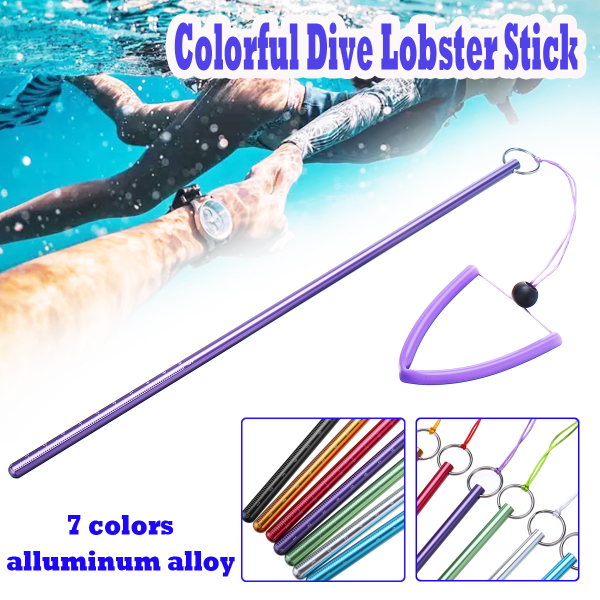 Diving Colorful Aluminum Alloy Dive Lobster Stick Pointer
