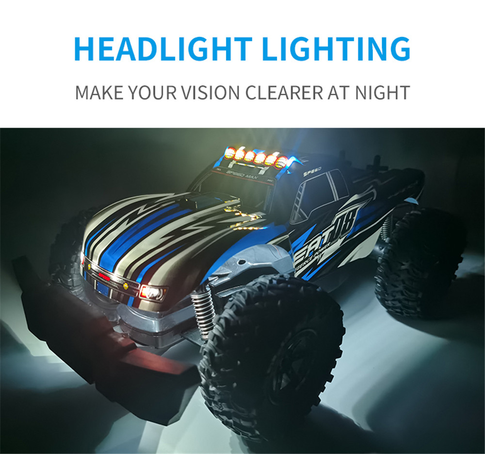 Eachine EAT08 RTR with 2/3 Battery 1/14 2.4G RWD RC Car Front LED Light Off-Road Vehicles Model Kids Children Toys