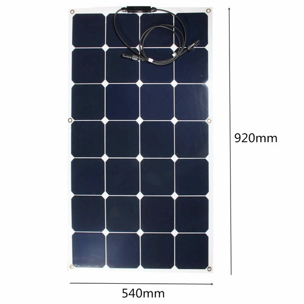 80W 12V Mono Semi Flexible Solar Panel Battery Charging For Smart Car RV Boat Caravan