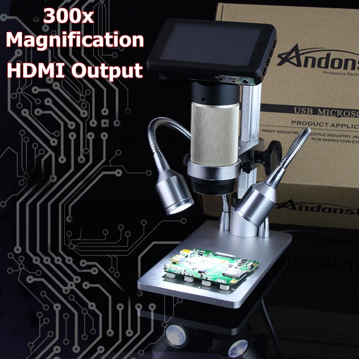 10X-300X Digital Inspection Microscope PCB Repair HDMI USB Full HD 3.0MP Camera