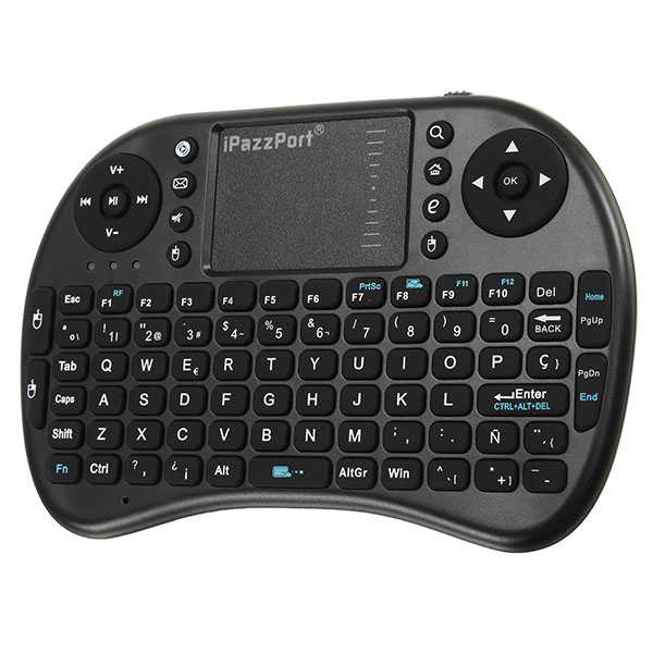Ipazzport I8 2.4G Wireless Spanish Version Rechargeable Mini Keyboard Touchpad AirMouse