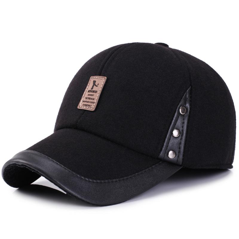 Men Women Winter Woolen Fabric Baseball Cap Peaked Cap