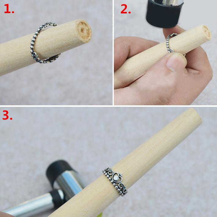 3Pcs DIY Gold/Silver jewelry Shaping Repair Tool Mandrel / Hammer