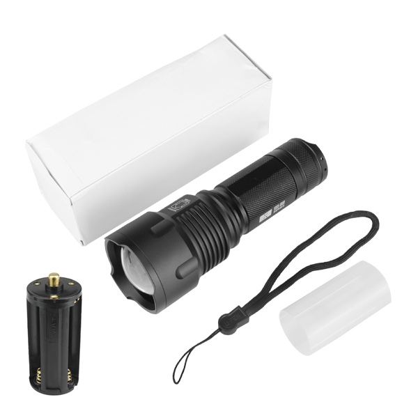 Warsun X50 L2 3Modes 1200LM Zoomable LED Flashlight 18650