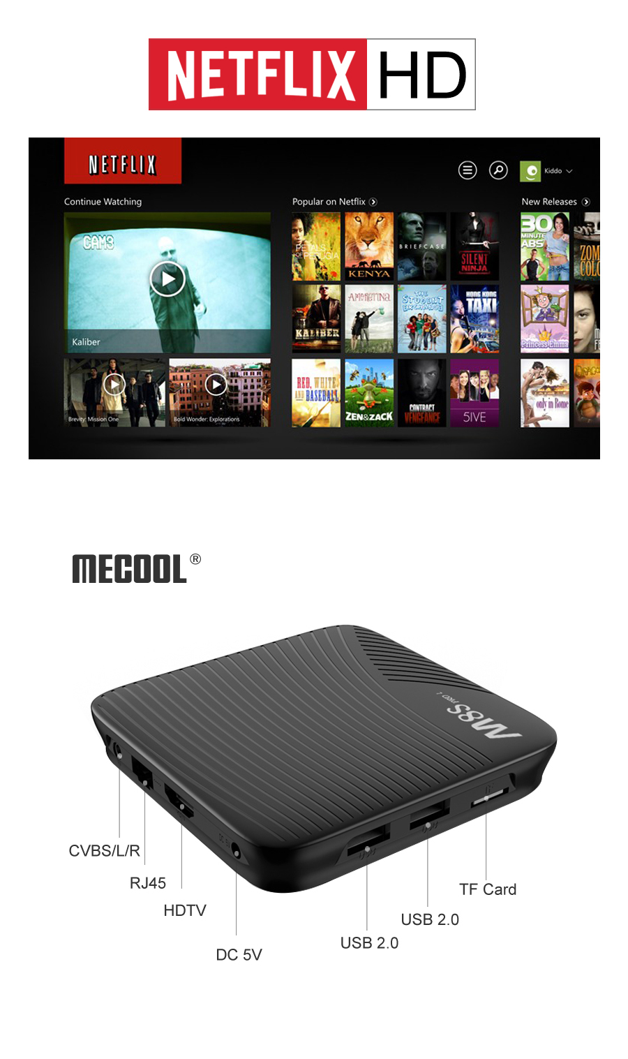 Mecool M8S Pro L Amlogic S912 3GB RAM 32GB ROM 5G WIFI bluetooth 4.1 4K Android TV Box Support HD Netflix 4K Youtube