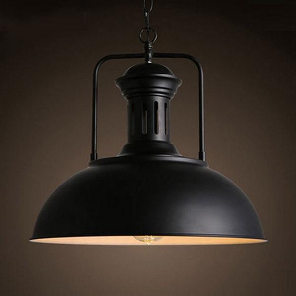 Vintage Industrial Pendant Iron Ceiling Hanging Light Fixture Lampshade Chandelier Indoor Lighting