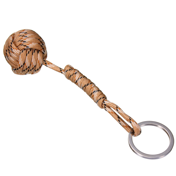 2Pcs Ball Pendant Parachute Cord Keychain Key Ring For Self Protection