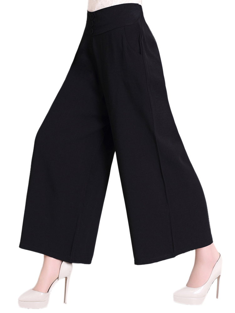 Elegant Women High Waist Solid Work Party Palazzo Pants