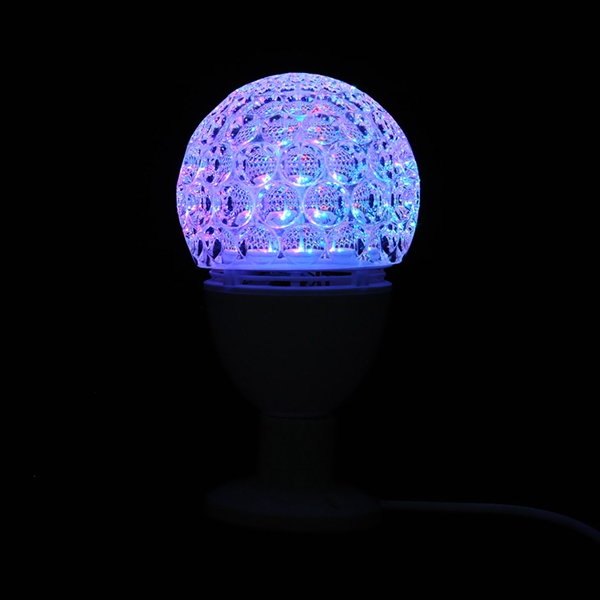 E27 3W Colorful Rotating Stage Light Bulb Party Xmas Holiday Decoration Projector Lamp