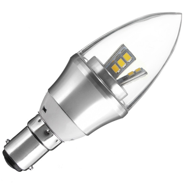 E27/E14/E12/B22/B15 3W LED Warm White/White15SMD 2835 Candle Light Bulb Lamp 85-265V
