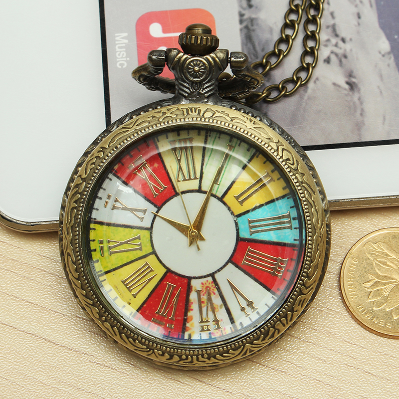 DEFFRUN Vintage Simple Roman Number Pocket Watch