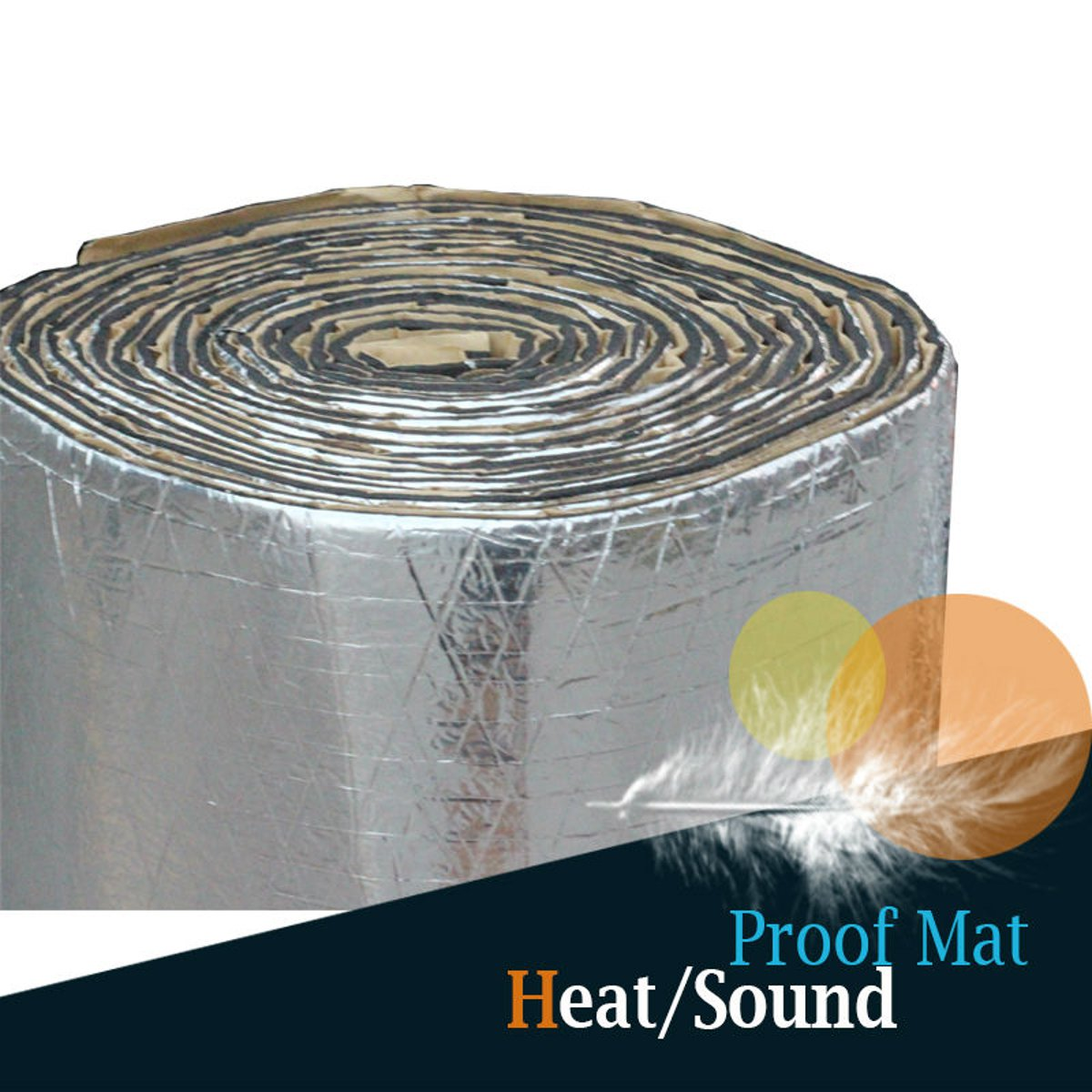 Sound And Heat Proofing Car Auto Deadener Sound Insulation Cotton Underlay Mat