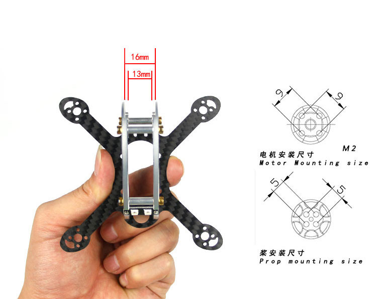 KINGKONG/LDARC FLY EGG 100 100mm Carbon Fiber FPV Racing Frame Kit W/ 4 Pairs 1935 Propeller for RC Drone