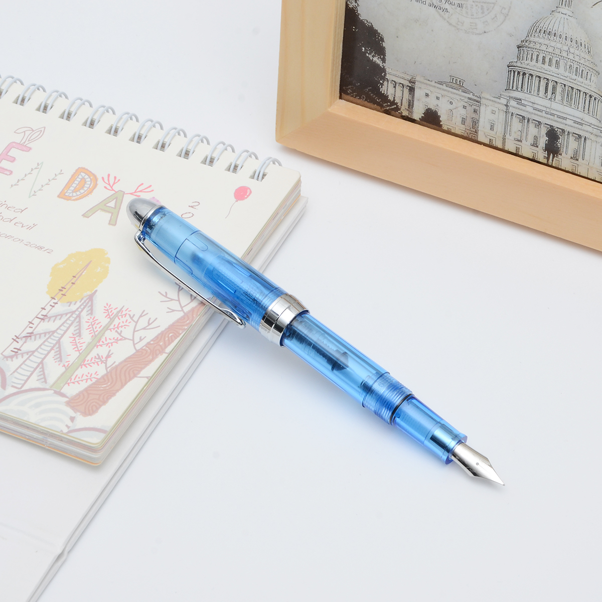 Wingsung 0.38mm Fine Nib Smooth Writing Fountain Pen School Office Stationery Supplies