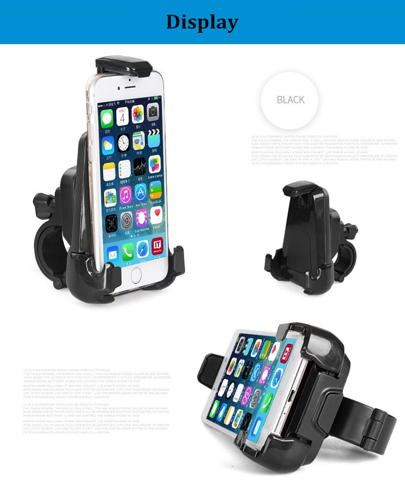 Universal 360 Degree Rotation Riding Navigation Phone Stand Holder Mount for under 6 inch Smartphone
