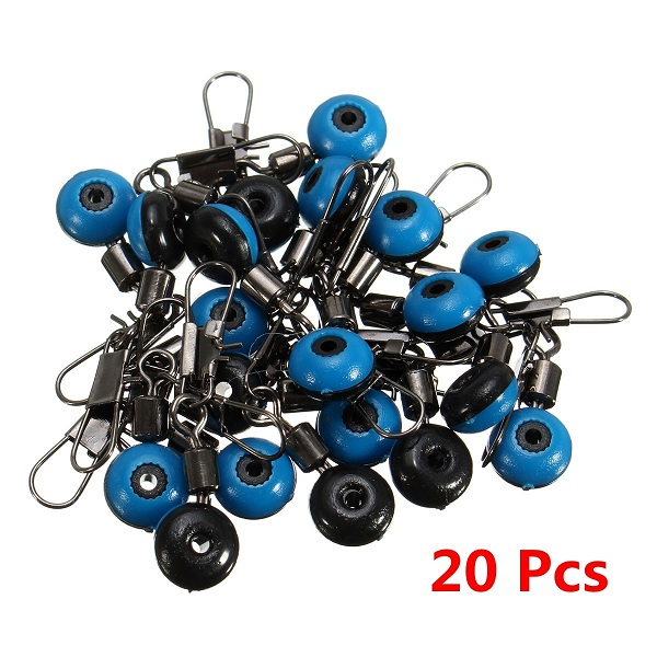 20Pcs Fishing Barrel Swivel Solid Ring Interlock Snap Pin Connector Accessories