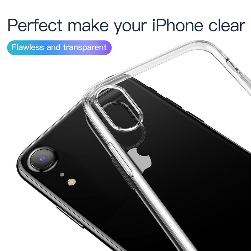 Baseus Clear Transparent Shockproof Soft TPU Protective Case For iPhone XR 6.1