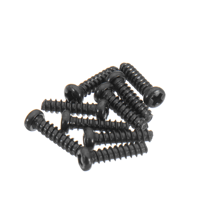 10PCS 25-LS01 2.6mm Round Head Black Screw For 9125 1/10 RC Car Parts