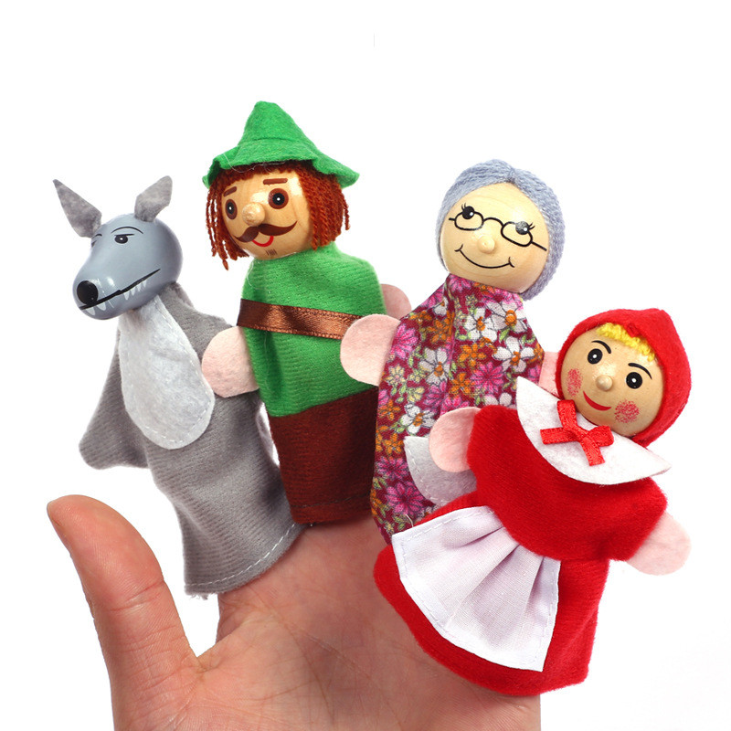 Christmas 7 Types Family Finger Puppets Set Soft Cloth Doll For Kids Childrens Gift Plush Toys