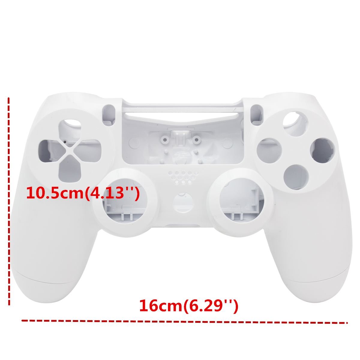 Customized Full Housing Shell Buttons Mod Cover Kits for PS4 Controller Solid White