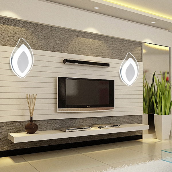 4W Modern Acrylic Leaf Shape SurfacE-mounted LED Wall Light