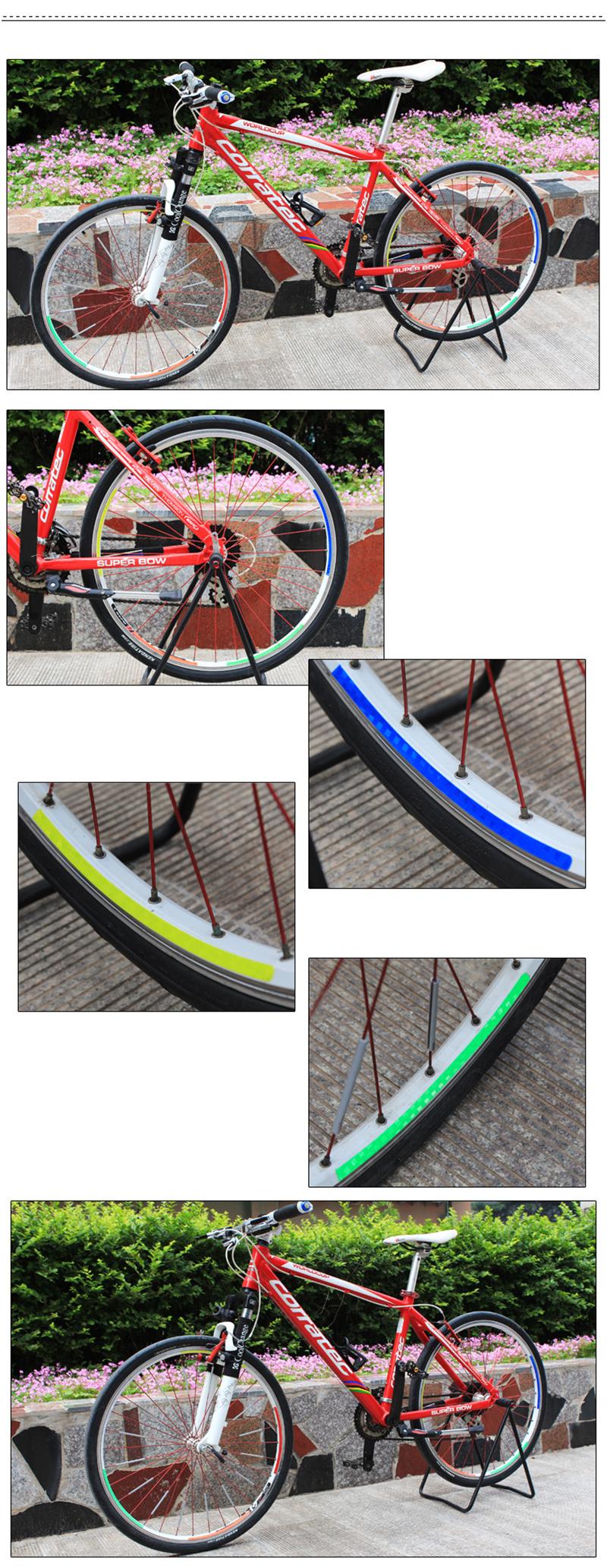 Utility Bike Bicycle Wheel Tyre Rim Reflective Stickers Tape DD