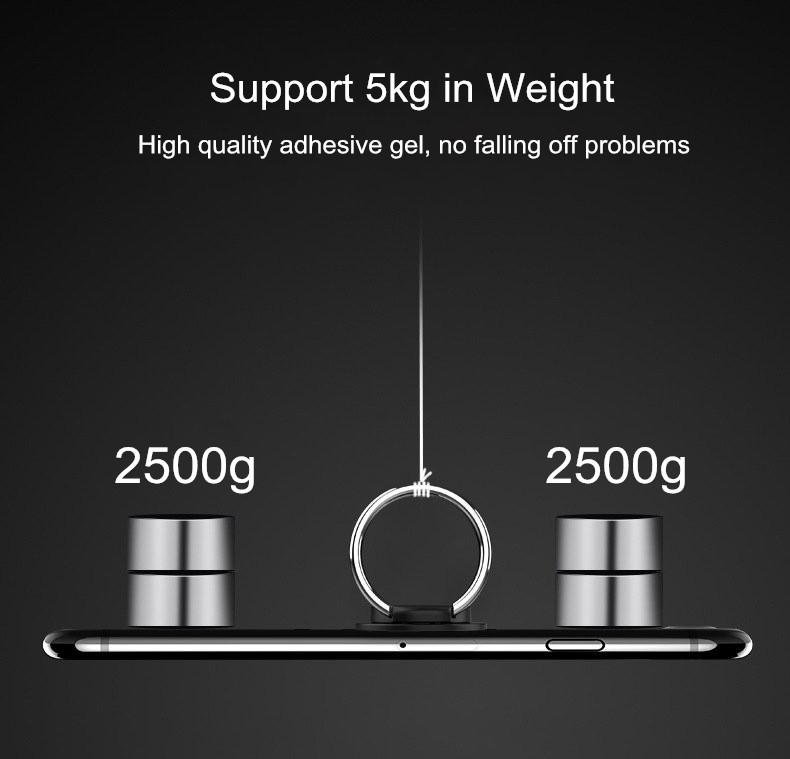 Bakeey Metal 360 Degree Rotation Finer Ring Holder Desktop Kickstand for iPhone Xiaomi Mobile Phone