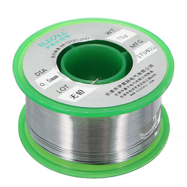 ELECALL 0.5mm 75g Rosin Core Tin Lead Free Rosin Roll Flux Reel Melt Core Welding Solder Wire