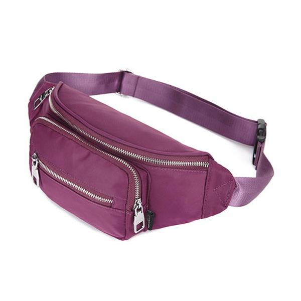 Women Nylon Waterproof Large Capacity Outdoor Sport Waist Bag Crossbody Bag