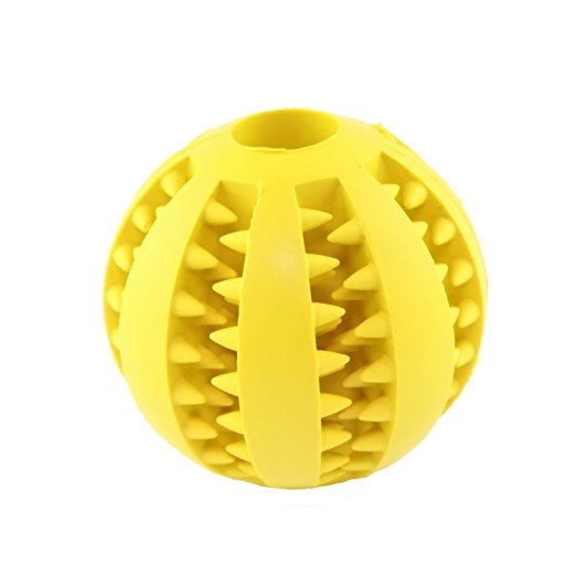 7CM Interactive IQ Treat Ball Rubber Dog Balls Toys with Bite Resistant Soft Rubber Dog Balls